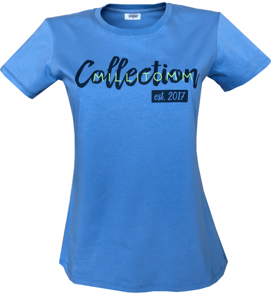 MilliTomm Damen T-Shirt blau Motiv Collection